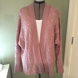 Pink Rose Sweater (M) NWOT